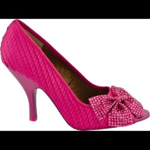 Poetic Licence Spectacle Pink peep toe pumps